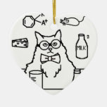 Profesor Cat Ornamentos De Navidad