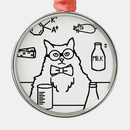 Profesor Cat Ornaments Para Arbol De Navidad