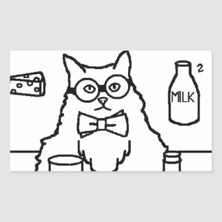 Profesor Cat Pegatina Rectangular