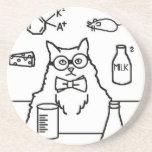 Profesor Cat Posavasos Personalizados