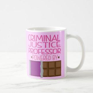 Profesor Chocolate Gift de la justicia penal para Taza De Café