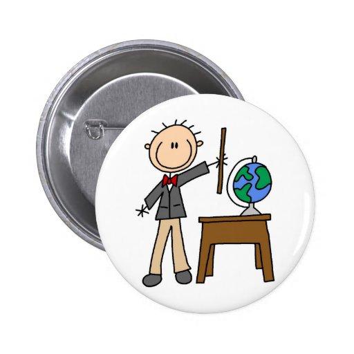 Profesor con el globo pins