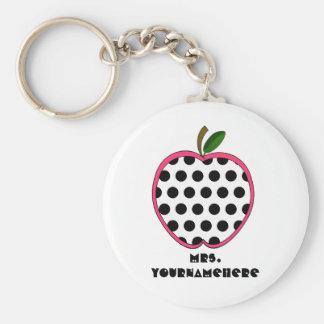 Profesor de Apple del lunar Llavero Redondo Tipo Pin