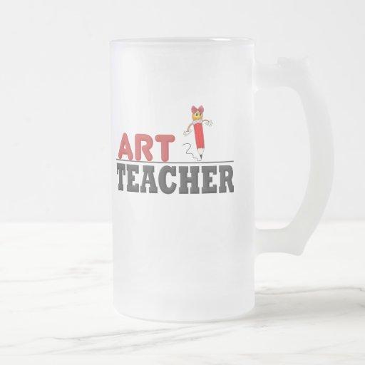 Profesor de arte (de sexo femenino) taza cristal mate