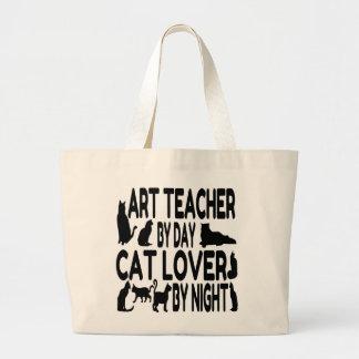 Profesor de arte del amante del gato bolsa