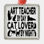 Profesor de arte del amante del gato ornamento para reyes magos