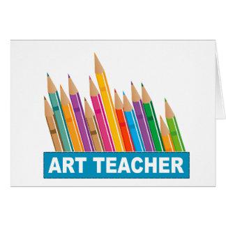 Profesor de arte tarjetón