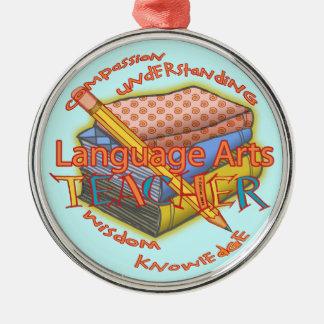 Profesor de artes de lengua ornamento para arbol de navidad
