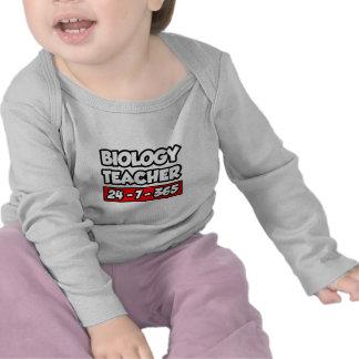 Profesor de biología 24-7-365 camisetas