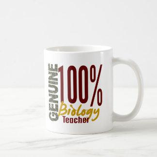 Profesor de biología auténtico taza básica blanca