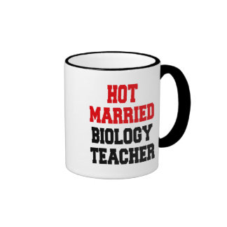 Profesor de biología casado caliente taza de dos colores