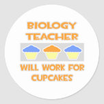 Profesor de biología… Trabajará para las Pegatina Redonda