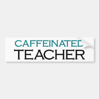 Profesor de Caffeinated (sacudida azul) Pegatina Para Auto