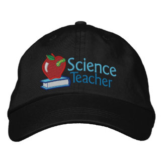 Profesor de ciencias bordado gorra de beisbol