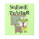 Profesor de ciencias de la rana libretas para notas
