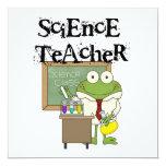 Profesor de ciencias de la rana invitación 13,3 cm x 13,3cm