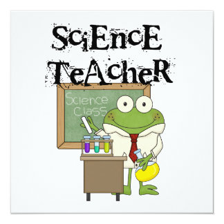 """Profesor de ciencias de la rana invitación 5.25"""" x 5.25"""""""