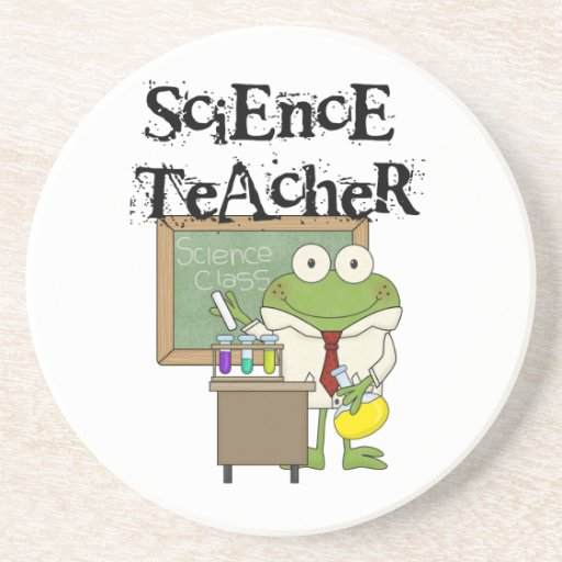 Profesor de ciencias de la rana posavasos para bebidas