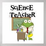 Profesor de ciencias de la rana poster