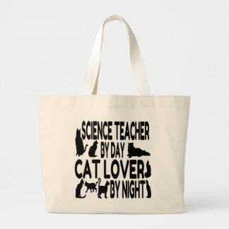 Profesor de ciencias del amante del gato bolsa