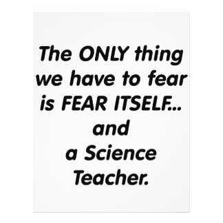 Profesor de ciencias del miedo tarjetas publicitarias