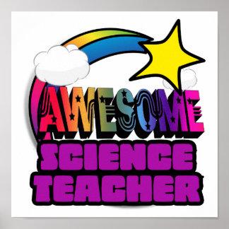 Profesor de ciencias impresionante del arco iris impresiones