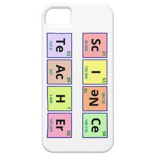 Profesor de ciencias iPhone 5 carcasa