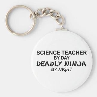 Profesor de ciencias Ninja mortal Llaveros