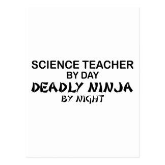 Profesor de ciencias Ninja mortal Postales