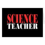 Profesor de ciencias, nuevo camisetas negro tarjetón