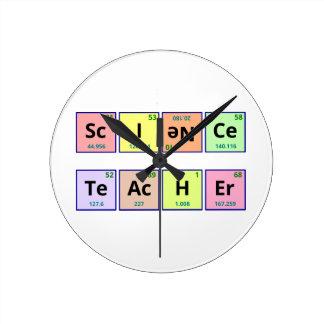 Profesor de ciencias reloj de pared