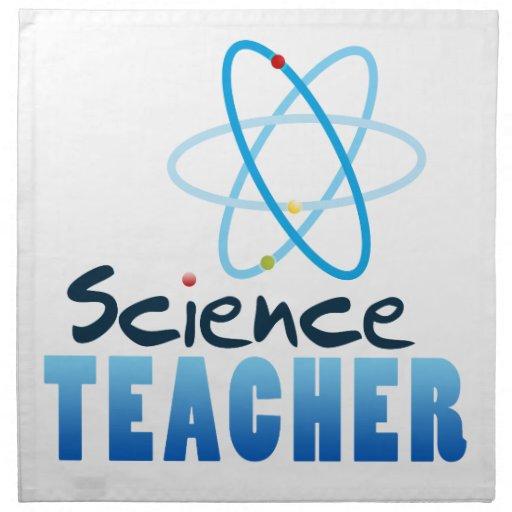 Profesor de ciencias servilletas