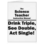 profesor de ciencias tarjeta