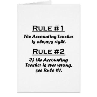 Profesor de contabilidad de la regla tarjeton