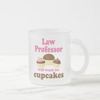 Profesor de derecho divertido taza de café esmerilada