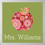 Profesor de encargo Apple con el estampado de flor Impresiones