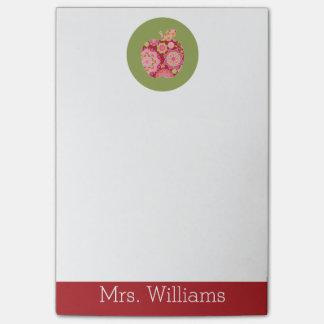 Profesor de encargo Apple con el estampado de Post-it® Nota