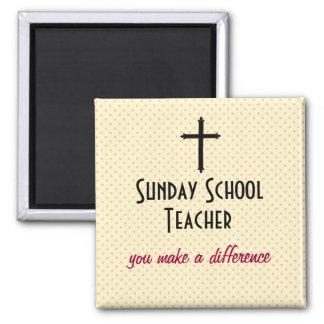 Profesor de escuela dominical imán cuadrado
