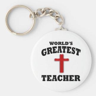 Profesor de escuela dominical llaveros personalizados