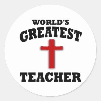 Profesor de escuela dominical pegatina redonda