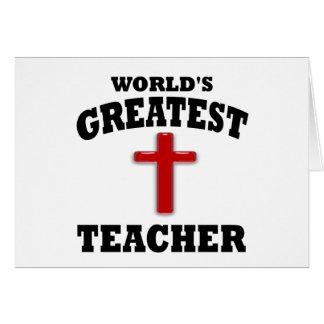 Profesor de escuela dominical tarjeta de felicitación