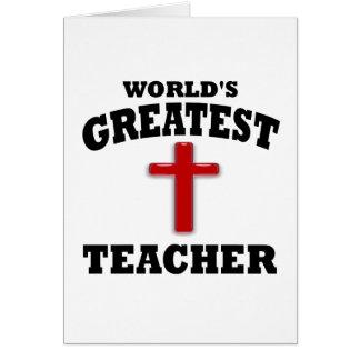 Profesor de escuela dominical tarjetón