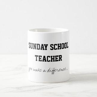 Profesor de escuela dominical taza clásica
