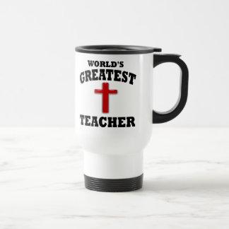 Profesor de escuela dominical taza de café