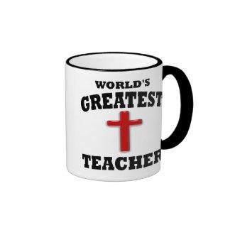 Profesor de escuela dominical tazas de café