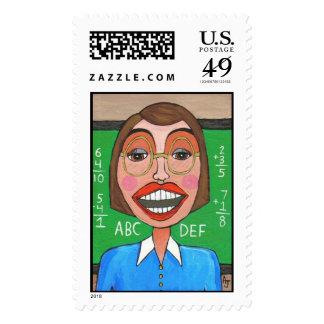 Profesor de escuela elemental - sello