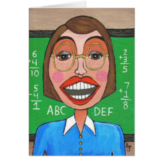 Profesor de escuela elemental - tarjeta de felicit