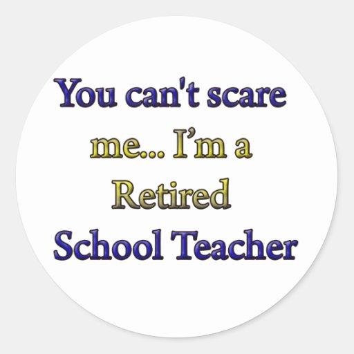 Profesor de escuela jubilado pegatina redonda