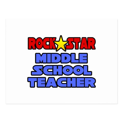 Profesor de escuela secundaria de la estrella del  postales