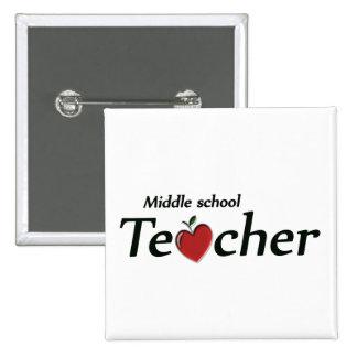 Profesor de escuela secundaria pin cuadrada 5 cm